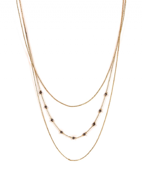 AUBAINE BEADS GOLD MULTI LAYER NECKLACE
